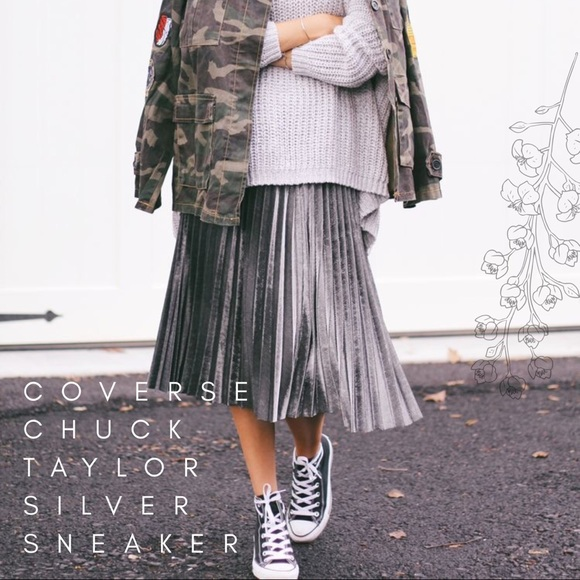 1c9eb70cf59 Converse Shoes - Metallic Silver  Chuck Taylor  Platform Sneaker